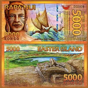 Easter-Island-5000-5000-Rongo-2012-Polymer-New-UNC-gt-Beautiful