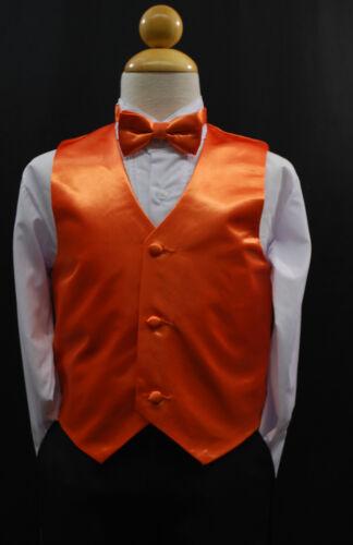 Infant Toddler Teen BLACK VEST /& BOW TIE for Tuxedo Suit Sz 0M-48M, 5-20
