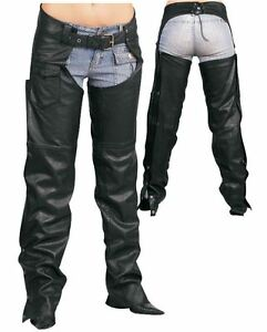 REDLINE-WOMENS-FULLY-LINED-LEATHER-CHAPS-FROM-THE-HOUSE-MIILWAUKEE-L-3800