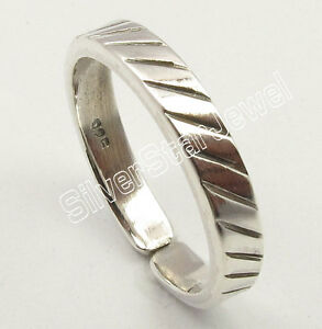 .925 Pure Sterling Silver Beautiful ADJUSTABLE TOE RING Band BIRTHDAY PRESENT