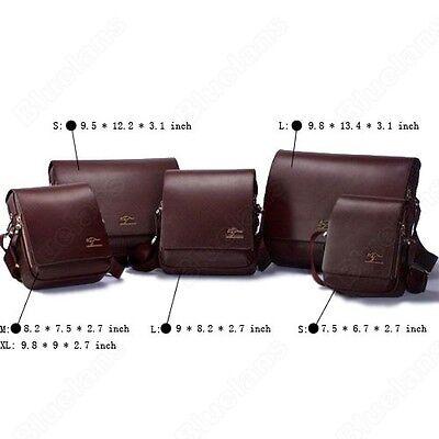 Boys Kangaroo Mens Leather Cross Body Shoulder Messenger Bag Business Briefcase
