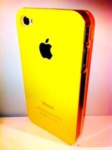cover-rigida-Iphone-4-4S-colore-YELLOW-GIALLO-lato-trasparente-NEW-COLOR