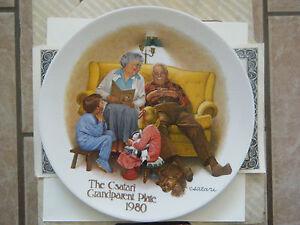 034-The-Bedtime-Story-034-1st-issue-Csatari-Grandparent-Series-Knowles-Plate-Box-amp-COA