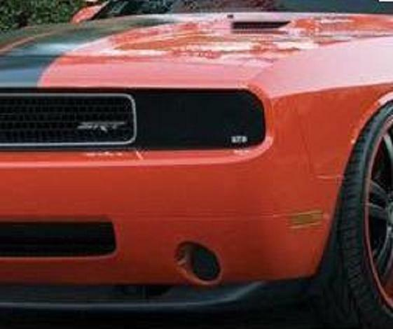 2008 - 2014 Dodge Challenger Smoke GTS Headlight & Fog Light Covers 4pc