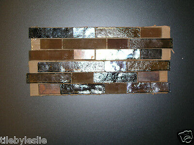 Flemish Bond Georgetown all shades of brown backsplash glass tile