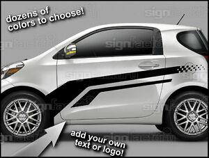 And Up Scion Iq Custom Vinyl Decal Graphics Racing Side - Custom vinyl decals car
