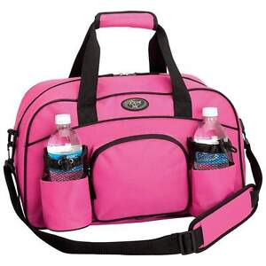 Womens Sports Brand New Pink Tote Workout Gym Bag Water Bottle Storage