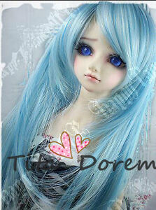 1-3-Dal-Pullip-BJD-SD-LUTS-BLYTH-Doll-long-straight-wig-doll-hair-blue