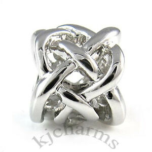 Celtic-Knot-Cross-Silver-European-Spacer-Charm-Bead-For-Bracelet-Necklace-EB499