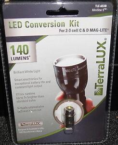 TERRALUX-TLE-6EXB-140-LUMENS-LED-UPGRADE-BULB-2-amp-3-Cell-C-amp-D-MAGLITE-Mag-Light