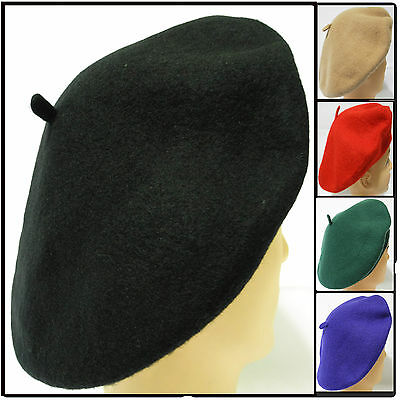 Classic women's soft warm 100% Wool French Artist Beret Beanie slouch Hat Cap