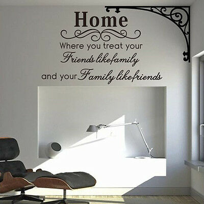 Home Family Friend Removable Vinyl Wall Quote Sticker Decal Home Decor SSWS0026