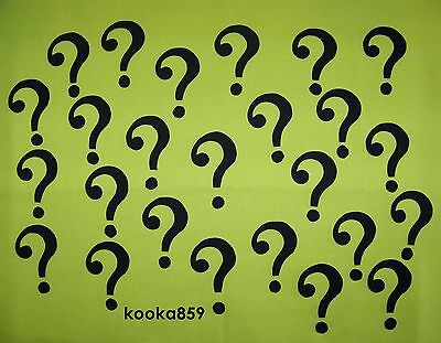 RIDDLER COSTUME QUESTION MARK SYMBOLS  25 Iron on patches Batman Joker Cosplay