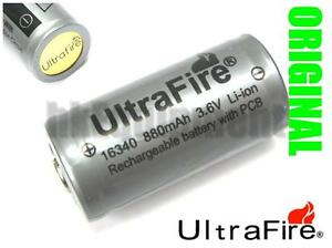 Ultrafire-16340-RCR123-CR123A-3-6v-Li-ion-Rechargeable-Protected-PCB-Battery-x4