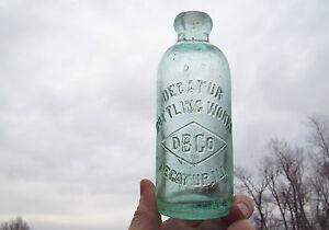 DECATUR-IL-BOTTLING-WORKS-BLOB-HUTCH-SODA-DBCO-IN-DIAMOND-EHE-CO-1890s