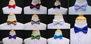 Baby-Boy-Kid-Satin-Adjustable-BOW-TIE-for-Children-Suit-amp-Tuxedo-Sz-0-48-5-20M