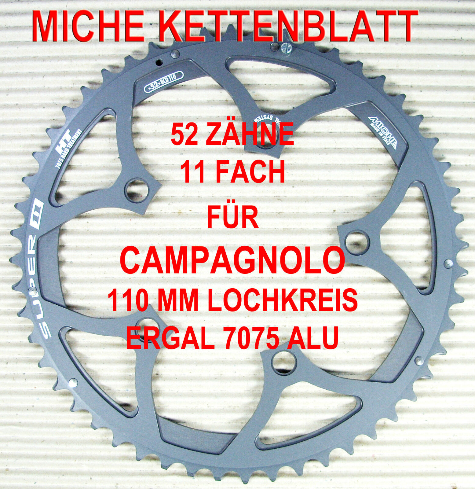 MICHE KETTENBLATT KETTENBLATT KETTENBLATT 11 FACH FÜR CAMPAGNOLO 110 MM AUSWAHL -  44 46 50 52 53 ZÄHNE ccbbc7