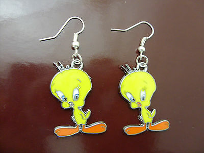 A Pair of New Girl's Tweety Pie / Tweety Bird Cartoon Earrings, Jewellery