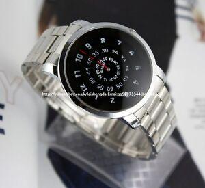 Mens-Unique-Design-Whirl-Stainless-Quartz-Wrist-Watch