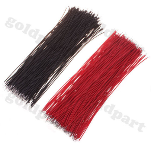 2000pcs Motherboard Jumper Cable Wires Tinned 10cm Black & Red