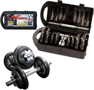 CAP-BARBELL-40-POUND-DUMBBELL-ADJUSTABLE-WEIGHT-LIFTING-SET-40-LB-IRON-PLATES