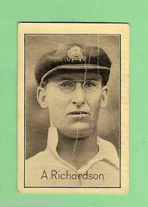 1926 FAMOUS TEST MATCH CRICKETERS CARD #5 A. RICHARDSON, S.AUST & AUSTRALIA
