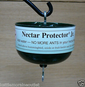 hummingbird feeder ant moat nectar protector jr green save nectar keep ants out ebay. Black Bedroom Furniture Sets. Home Design Ideas
