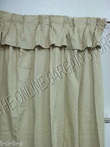 Ballard Designs Pleated Twill Panels Drapes Curtains W