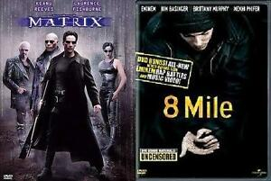 2-SET-MATRIX-8-MILE-DVDs-Movies-Keanu-Reeves-Eminem-Action-Drama-Rap-Edgy-NEW