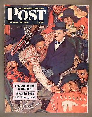 Saturday Evening Post - January 24, 1948 -- Norman Rockwell cover -- nice cond.