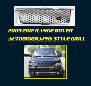 Range Rover L322 Autobiography >> 09-12 Range Rover Vogue Autobiography Type CHROME/ BLACK Grill +Land Rover Badge | eBay