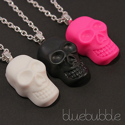 FUNKY PUNK SKULL NECKLACE CUTE KITSCH RETRO KAWAII CANDY POP ROCK METAL GOTH EMO