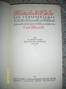 Triumph der Liebe, Ein Venusspiegel, Liebesnovellen, 1922, Altdeutsche Schrift - Deutschland - Triumph der Liebe, Ein Venusspiegel, Liebesnovellen, 1922, Altdeutsche Schrift - Deutschland