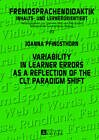 Variability in Learner Errors as a Reflection of the CLT Paradigm Shift by Joanna Pfingsthorn (Hardback, 2013)