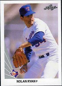 1990 Leaf Nolan Ryan Texas Rangers 21 Baseball Card