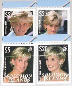 SOLOMON-SALOMON-ISL-2007-1356-59-10th-Death-Ann-Princess-Diana-Spencer-MNH