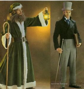 Butterick-3648-COSTUME-PATTERN-L-XL-Mens-Victorian-Robe-Tailcoat-Christmas-Carol