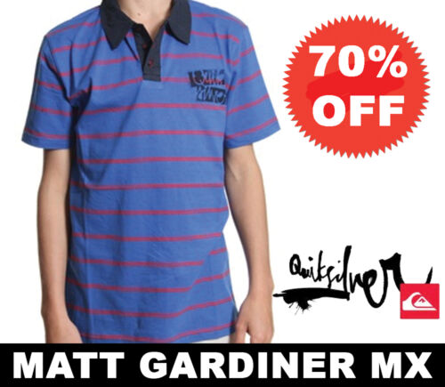 Quiksilver Boys Childrens Polo Shirt Blue Jay Age 8 10 12 14 16 70/% OFF YOUTH