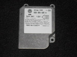 JETTA VW VOLKSWAGEN 99 00 01-UP AIRBAG SRS CONTROL MODULE #: 6Q0 909 605 A OEM