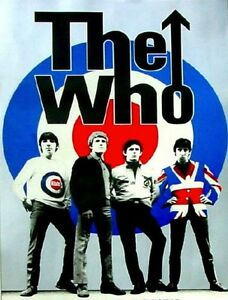 The-Who-pop-art-Oil-Painting-28x16-NOT-a-print-or-poster-Framing-Available