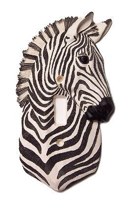 Vickilane African Zebra Safari Decor Single Light Switch Plate Cover Wallplate
