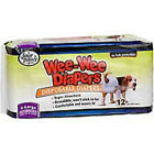 "Four Paws xsmall Wee-Wee Disposable Dog Diapers (xsmall; For Waists 10""-13""; For Pets 4-8 lbs.; Pack of 12 diapers) (Four Paws)"