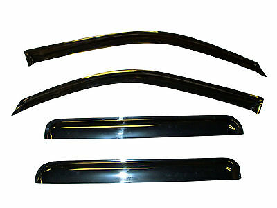 Vent Window Shades Visor Rain Guards for Nissan Frontier Crew Cab 05-17
