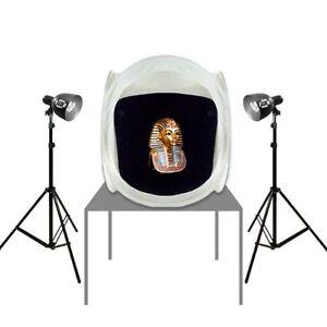 Photo-Studio-Tent-30in-Hi-Output-Photo-Bulbs-650-Watts-Stands-Steve-Kaeser