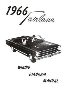 FORD 1966 Fairlane Wiring Diagram Manual 66 | eBay