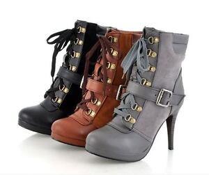 S2781-Japan-Korea-Fashion-Women-3-Color-Lace-Up-High-Heel-Boots-Pump-Shoes-34-39