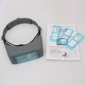 1-5x-2x-2-5x-3-5x-Reading-Head-Loupe-Magnifier-Magnify-Glass-With-4-Lens
