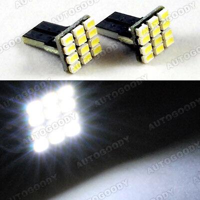2 x White LED Bulbs 9 SMD T10 Wedge Side Marker Step Door Light License Plate