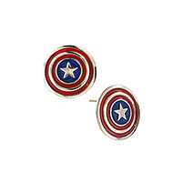 Marvel-Comics-Avengers-Captain-America-Stud-Earrings-JEWELM-Brand-New