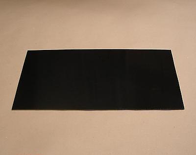 10 mm FR4 GFK Platte Glashartgewebe ca. 500 x 210 mm schwarz Ersatz für Karbon